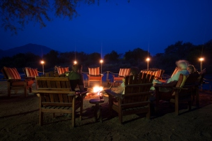 Campfire at Chongwe River Camp