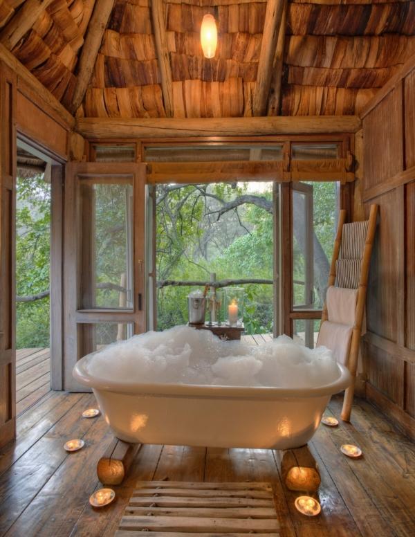 Bath at Lake Manyara Tree Lodge