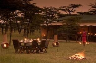Dinner at Kicheche Bush Camp