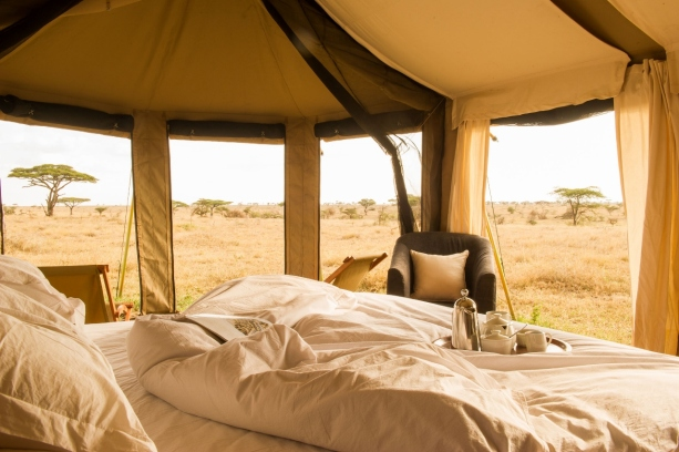 Namiri Plains Safari tent
