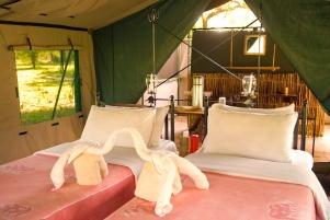 Tent at Lake Manze Camp