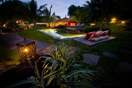Lakaz Chamarel Gardens by night