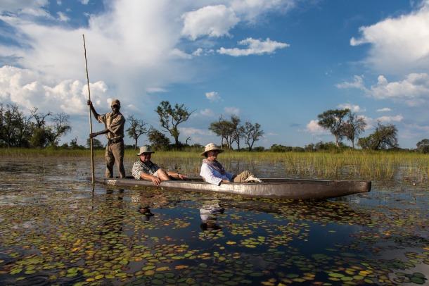 Mokoro trip at Little Vumbura, Okavango Delta