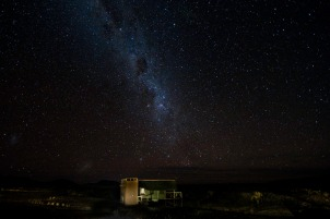 Stargazing from Kulala Desert Lodge
