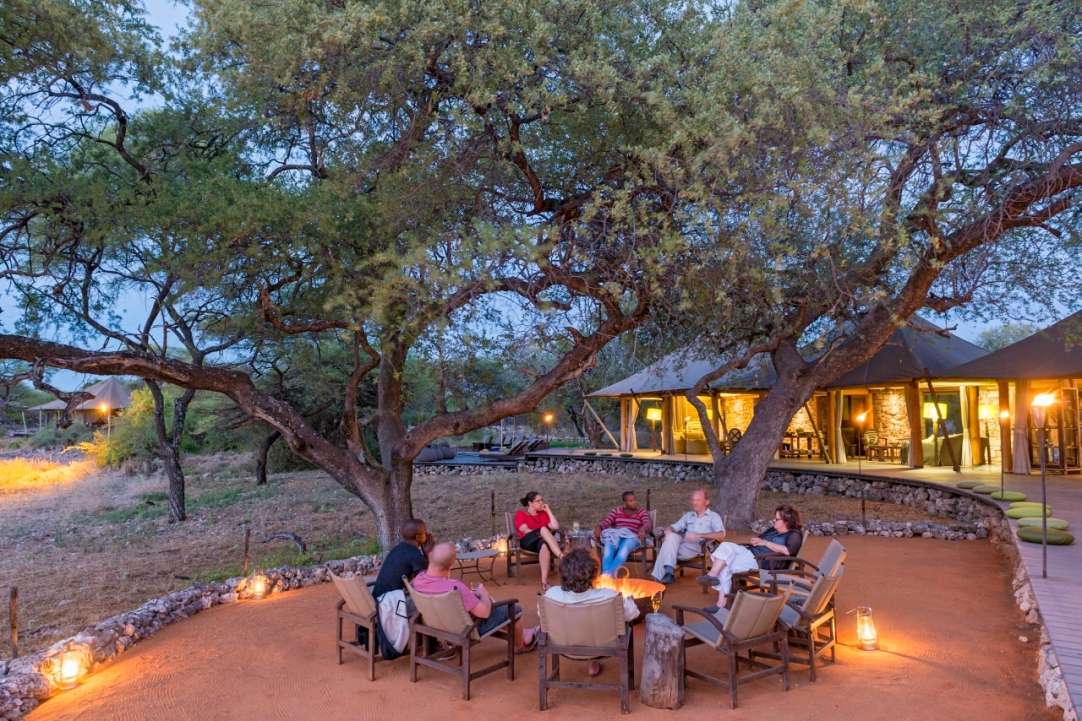 Campfire at Onguma Tented Camp