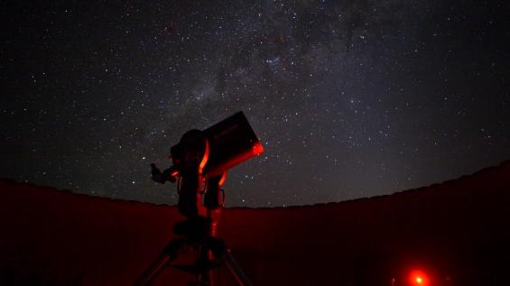 Stargazing at Sossusvlei Desert Lodge