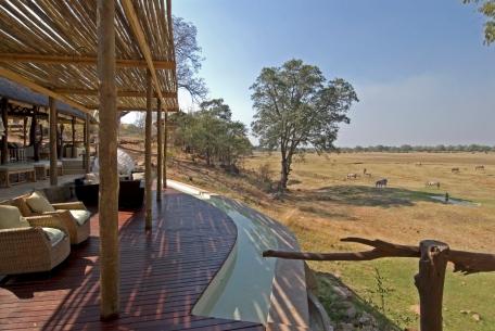 Africa; Zambia; Sanctuary Puku Ridge Camp; Main Deck View