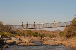 Bridge to Mkulumadzi Lodge