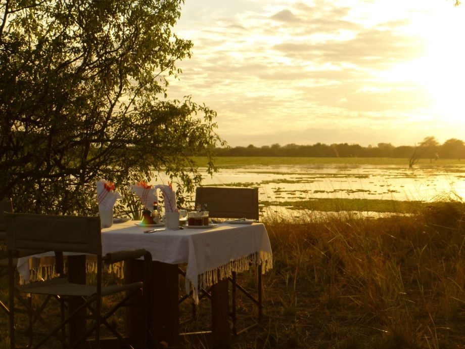 Dining at the Sands River Fly Camp