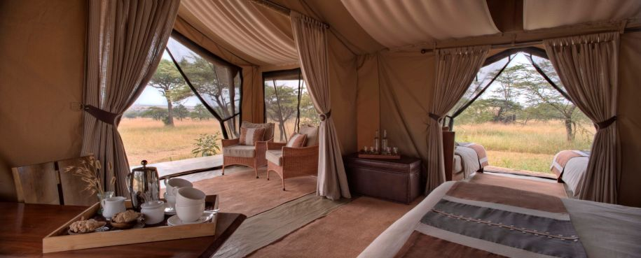 Interior of the Guest Tents