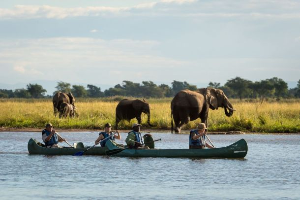 Kayaking on the Zambezi
