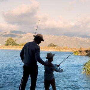 Fishing at Babylonstoren