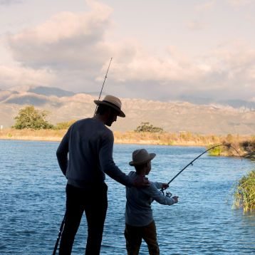 Fishing at Babylonstoren