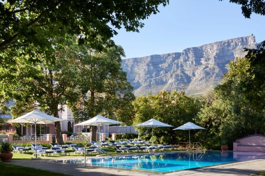 Pool and Table Mountain at Mount Nelson