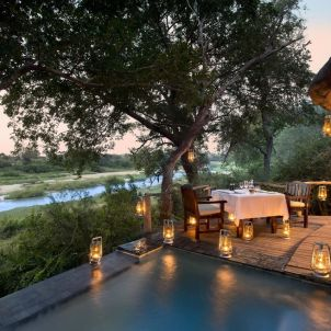 Private Dining at Dulini River Lodge