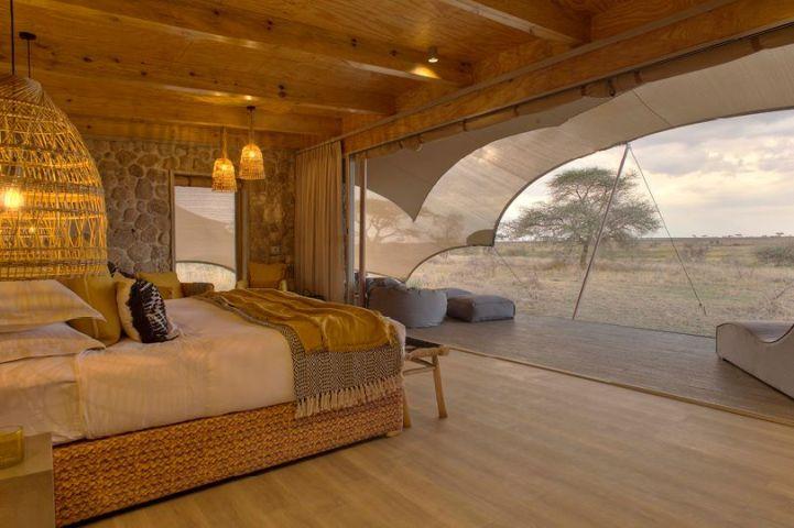 Tent Interior at Namiri Plains