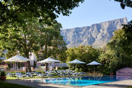 Pool area with view of Table Mountain