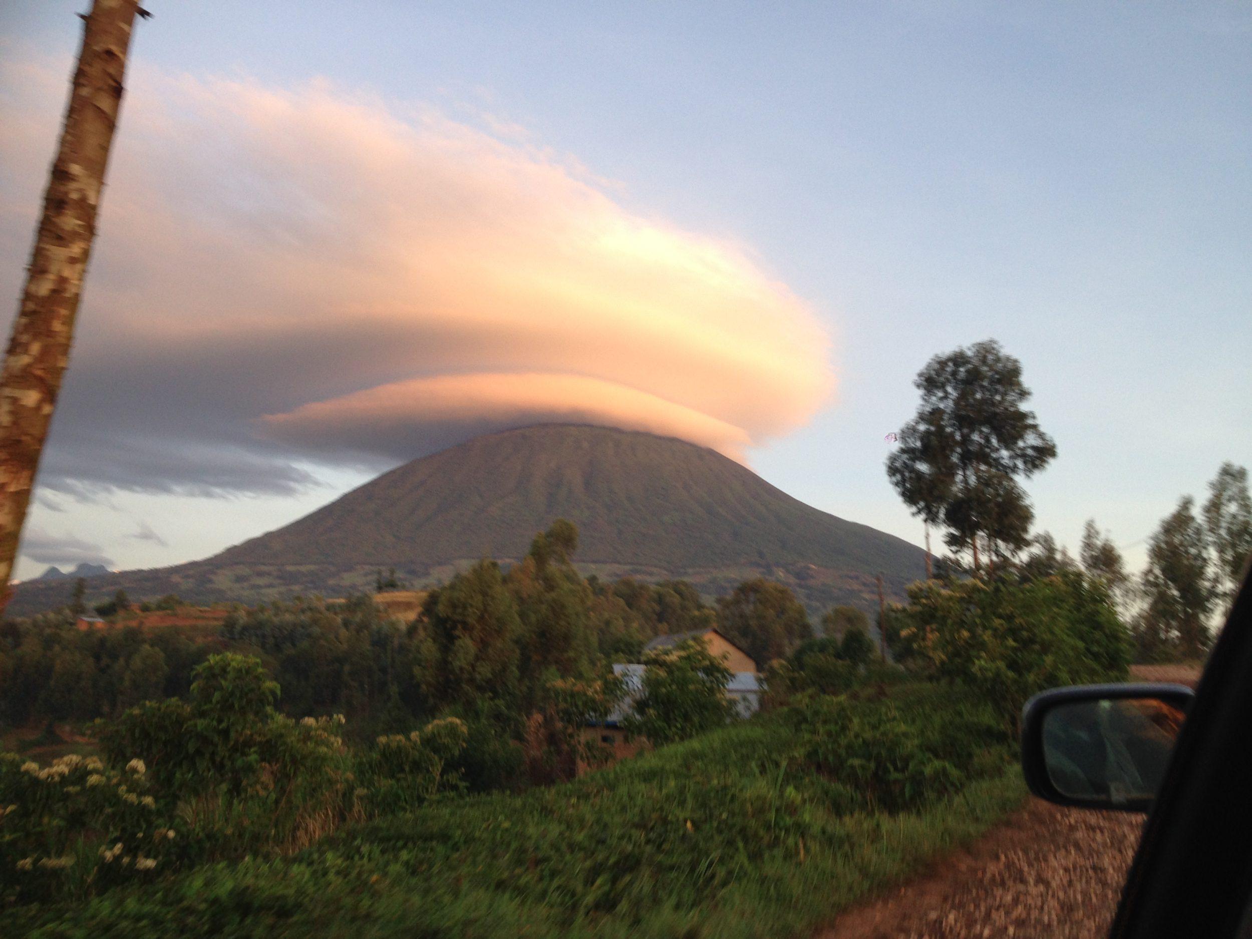 Volcanoes National Park from Virunga Lodge